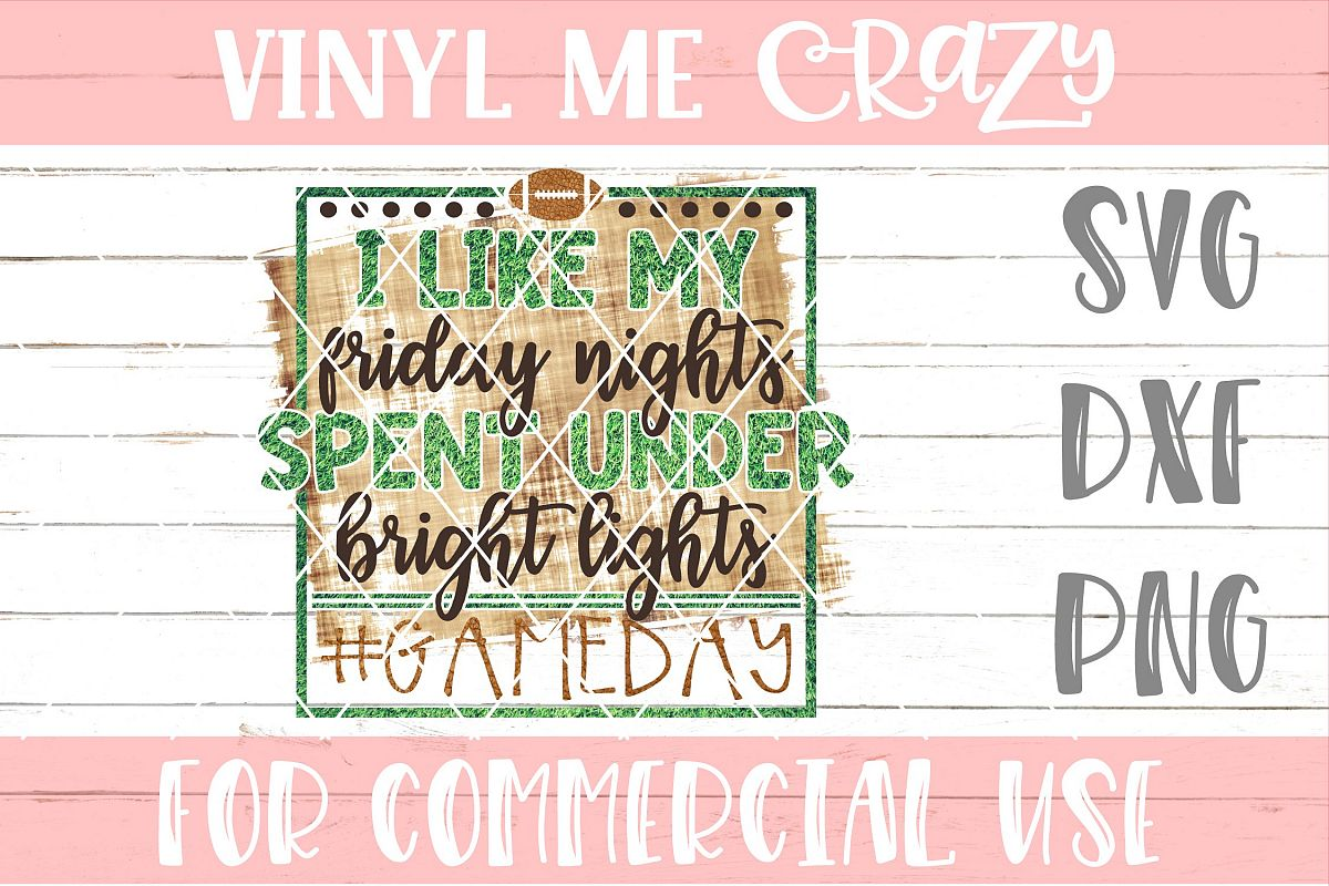 Friday Nights Spent Under Bright Lights SVG DXF PNG example image 1