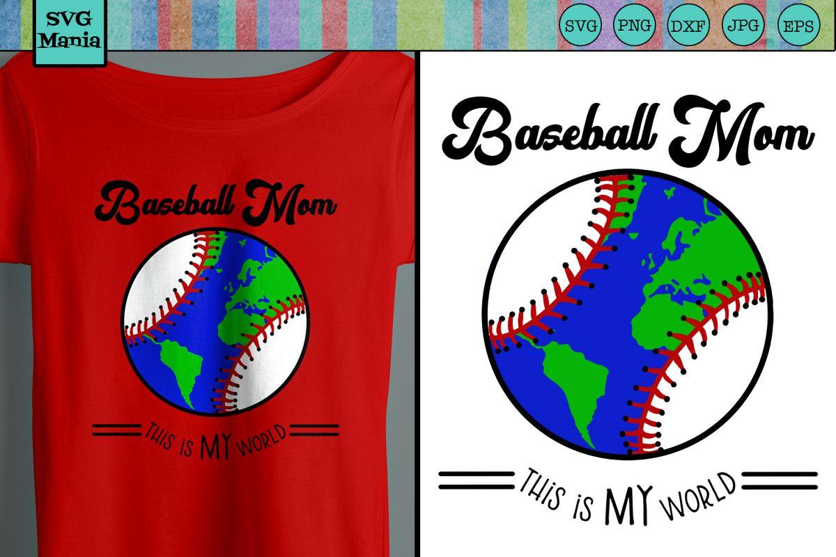 Funny Baseball Mom SVG File, Baseball Saying SVG, Play Ball example image 1