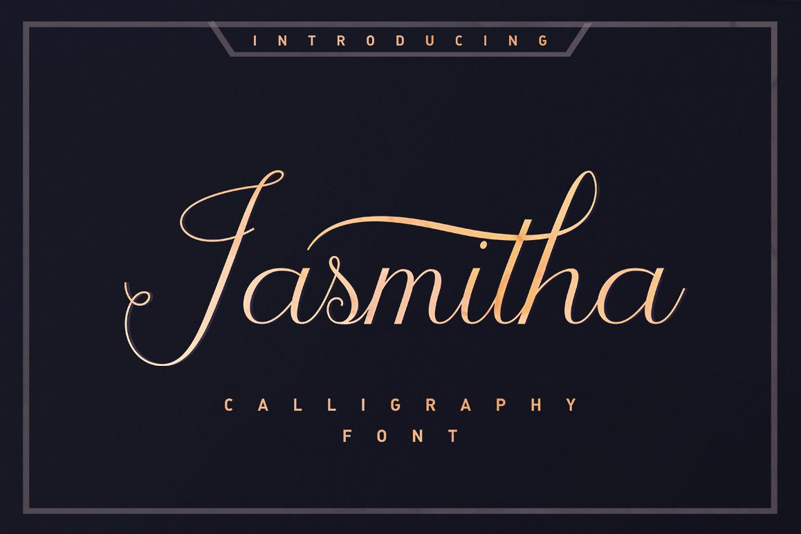 Jasmitha Script example image 1