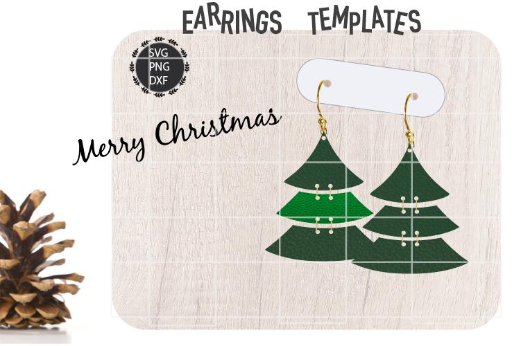 Christmas Tree Earrings Svg Christmas Earrings Svg