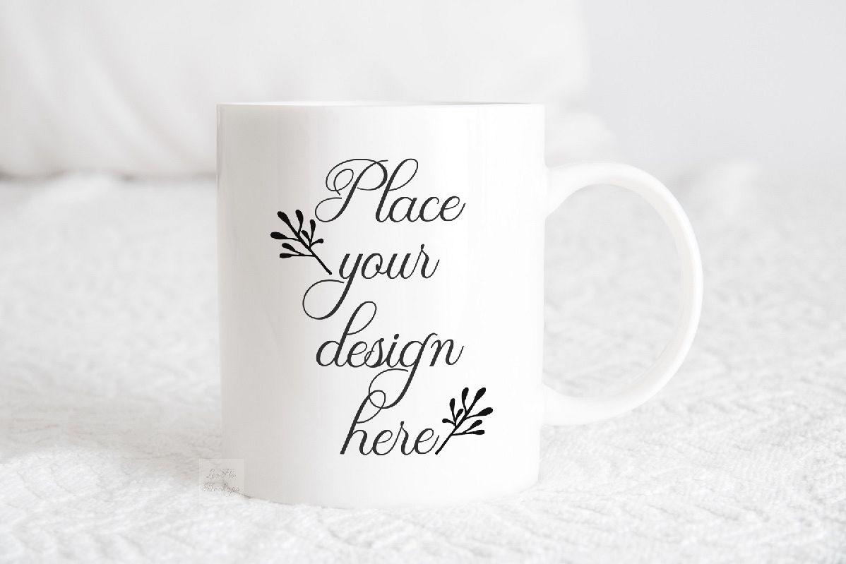 Mug mockup modern 11 oz coffee psd smart white coffee mugs example image 1