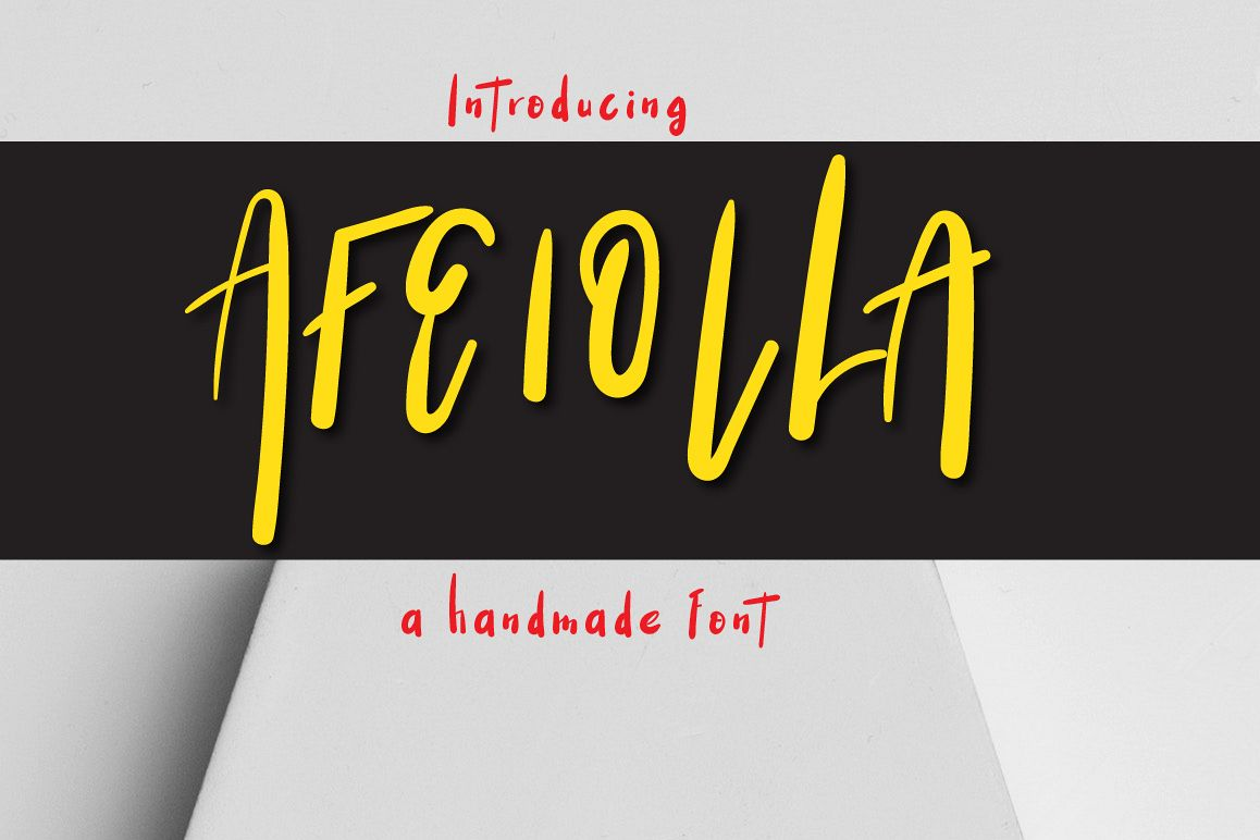 Afeiolla Typeface example image 1