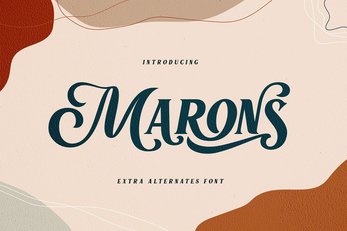 Marons Font example image 1