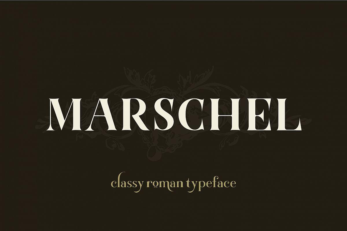 Marschel | a Classy Roman Typeface example image 1