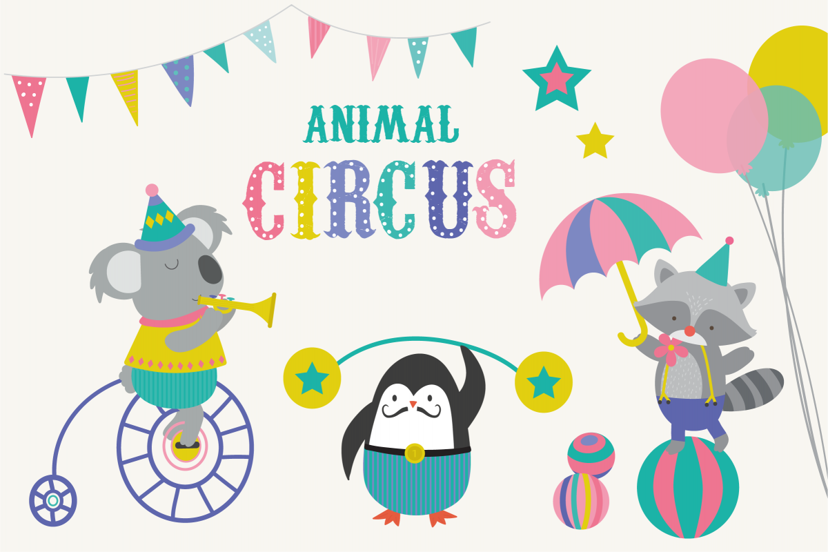 Animal Circus clipart example image 1