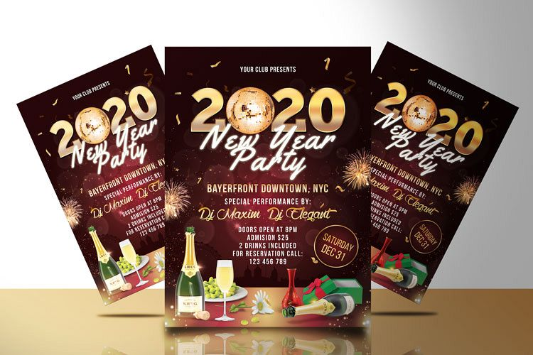 NEW YEAR PARTY FLYER 2 example image 1