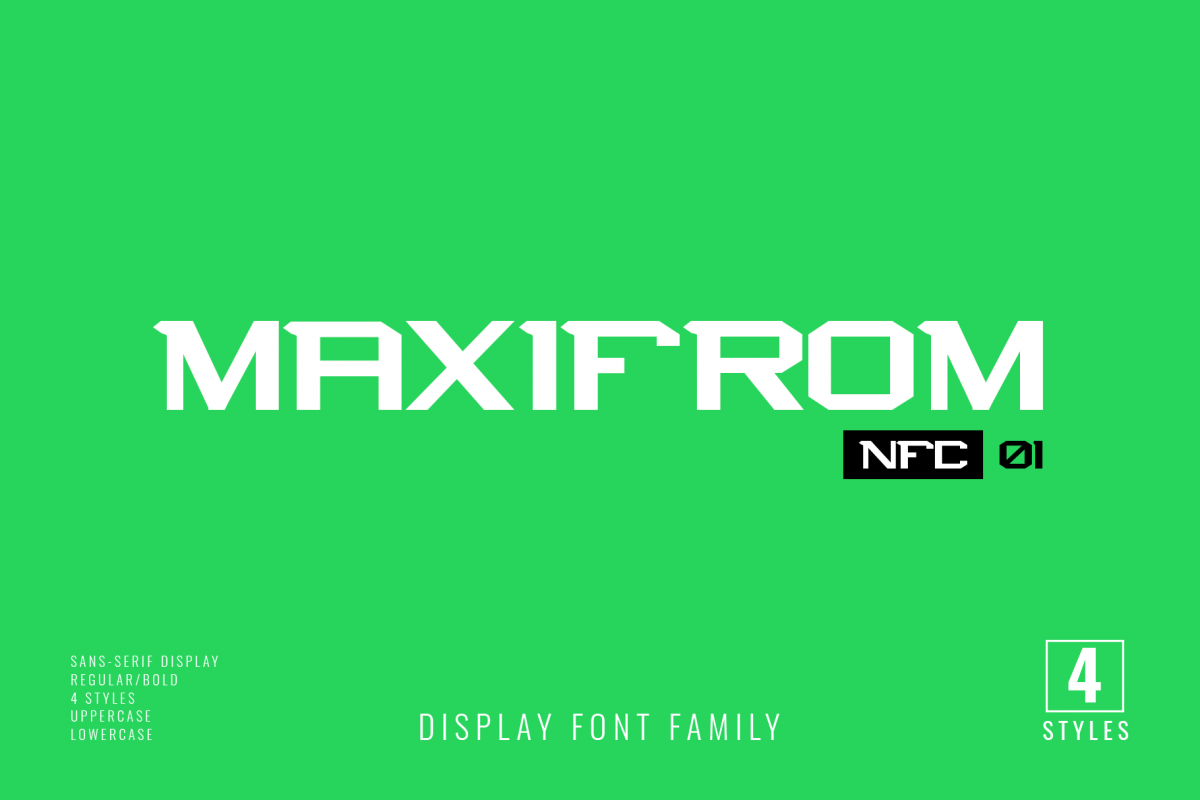 NFC MAXIMORF DISPLAY FONT example image 1