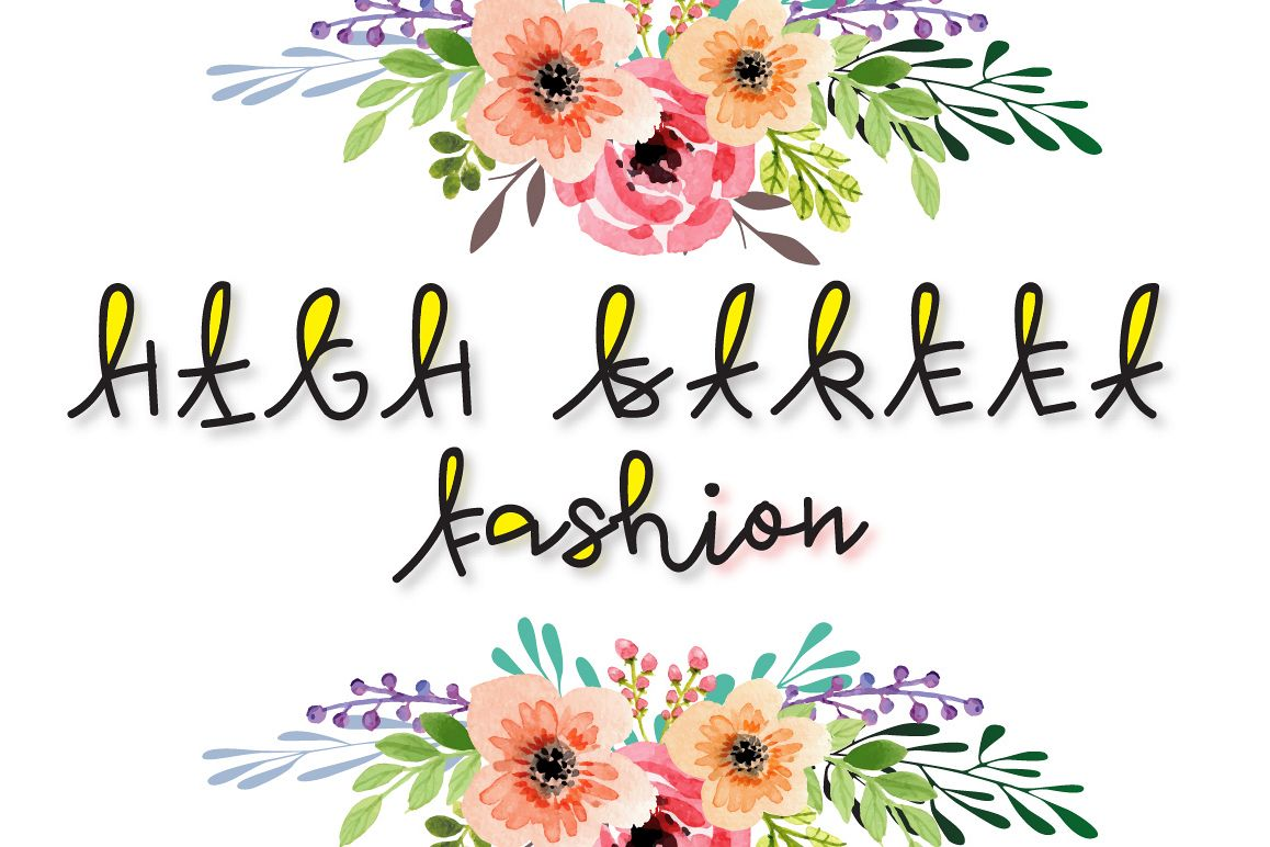 High Street Fashion - multicolor font example image 1