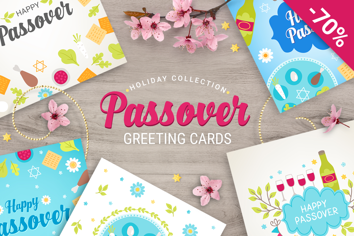 8 Passover Greeting Cards example image 1