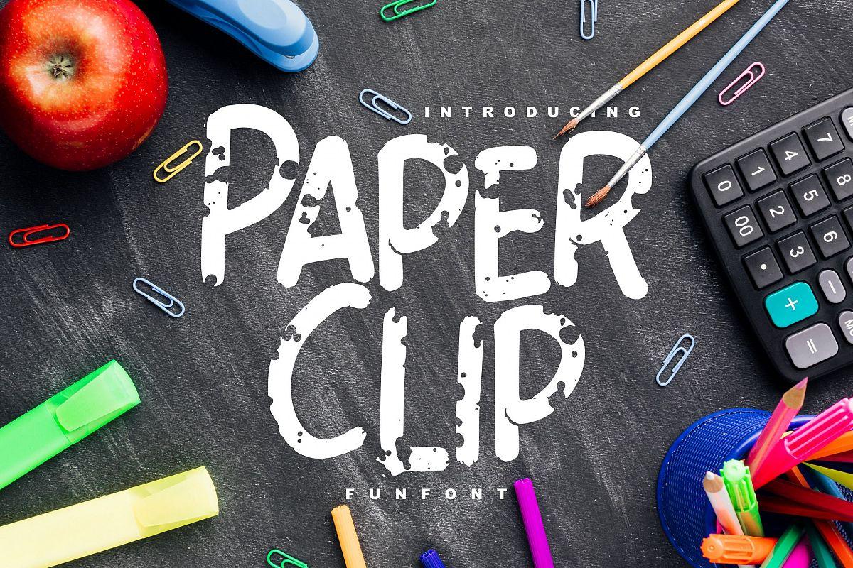 Paper Clip | Decorative Fun Font example image 1