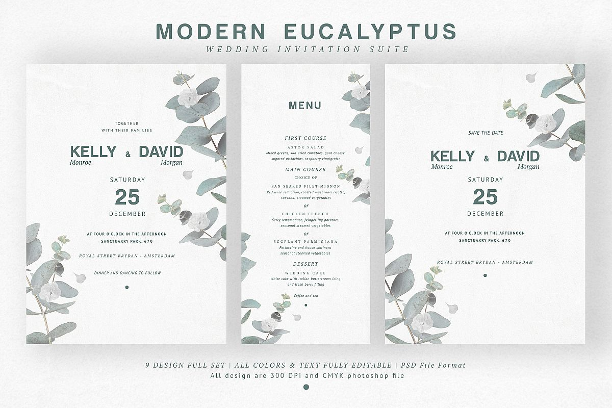 Modern Eucalyptus Wedding Suite example image 1