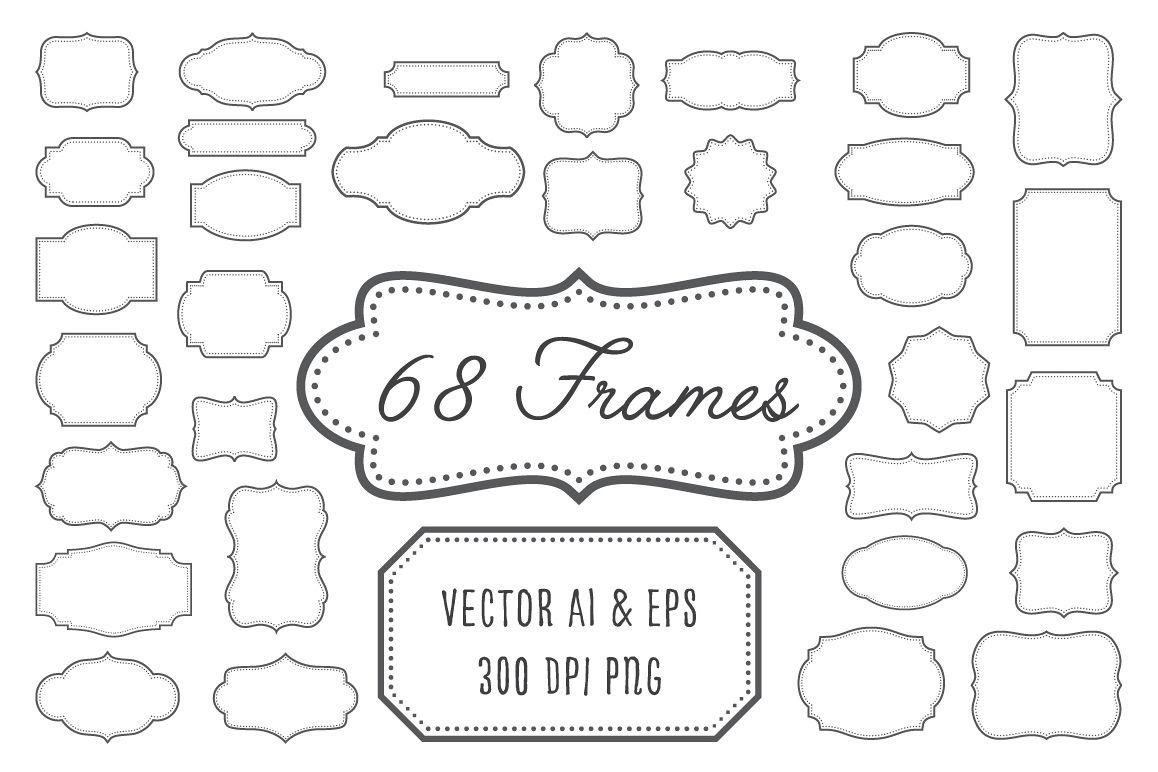 Vintage frame design png Blue Vintage Frames Labels Badges Example Image Design Bundles Vintage Frames Labels Badges