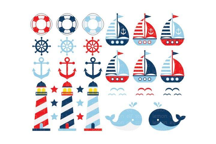 Sailing Away-Digital Clipart (LES.CL13A) example image 1