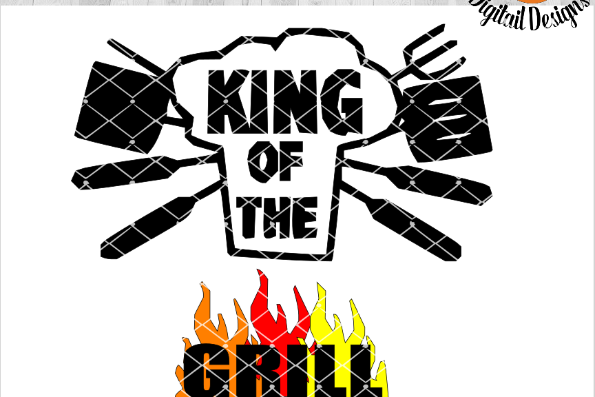 King of the Grill SVG - png - eps - dxf - ai - fcm - BBQ SVG - Silhouette -  Cricut - Scan N Cut - Dad SVG file