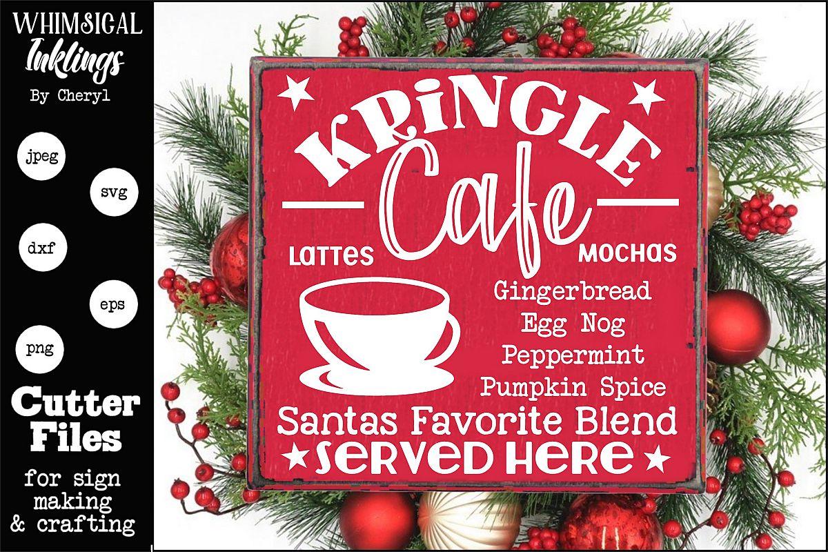 Kringle Cafe-Christmas Coffee SVG example image 1