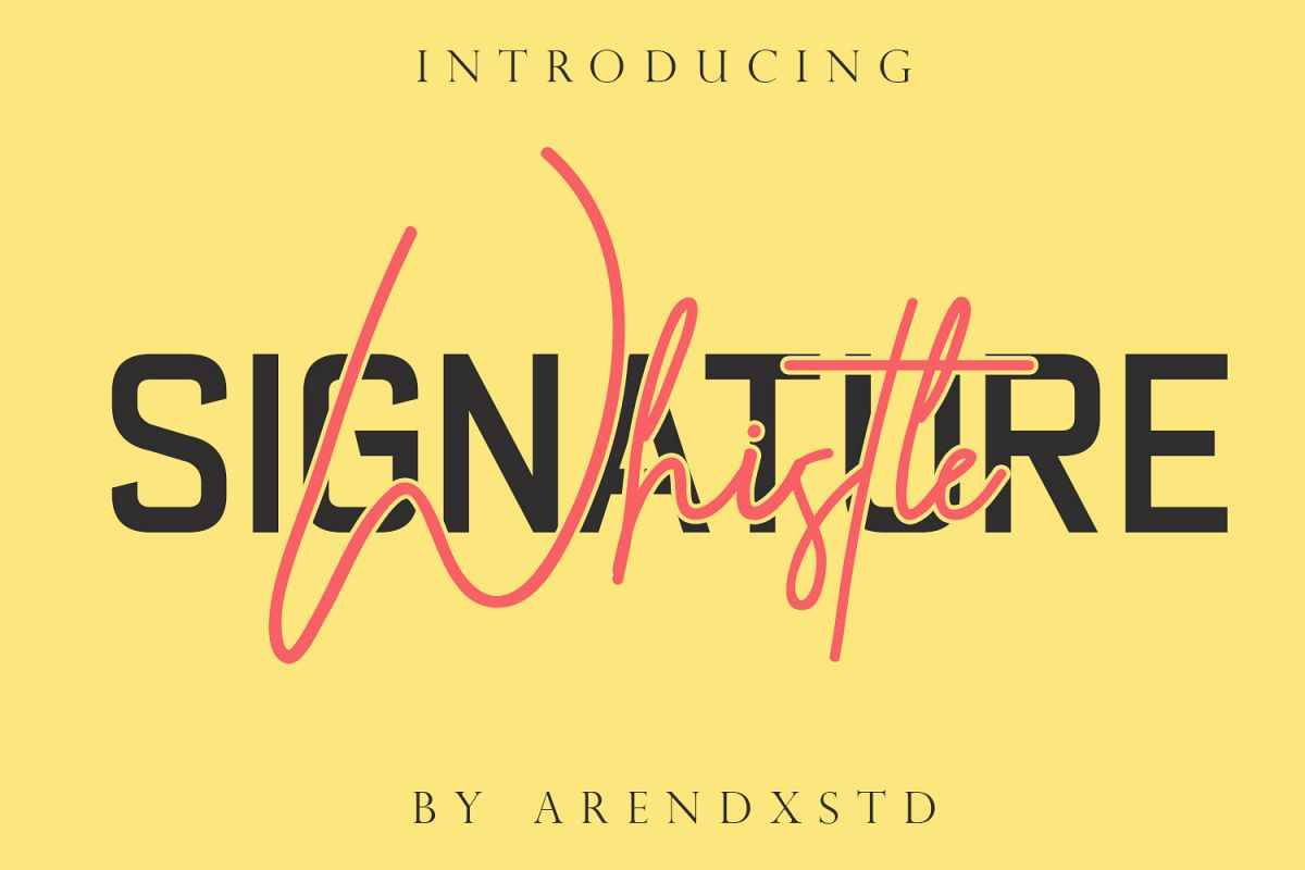 Whistle - Signature font example image 1