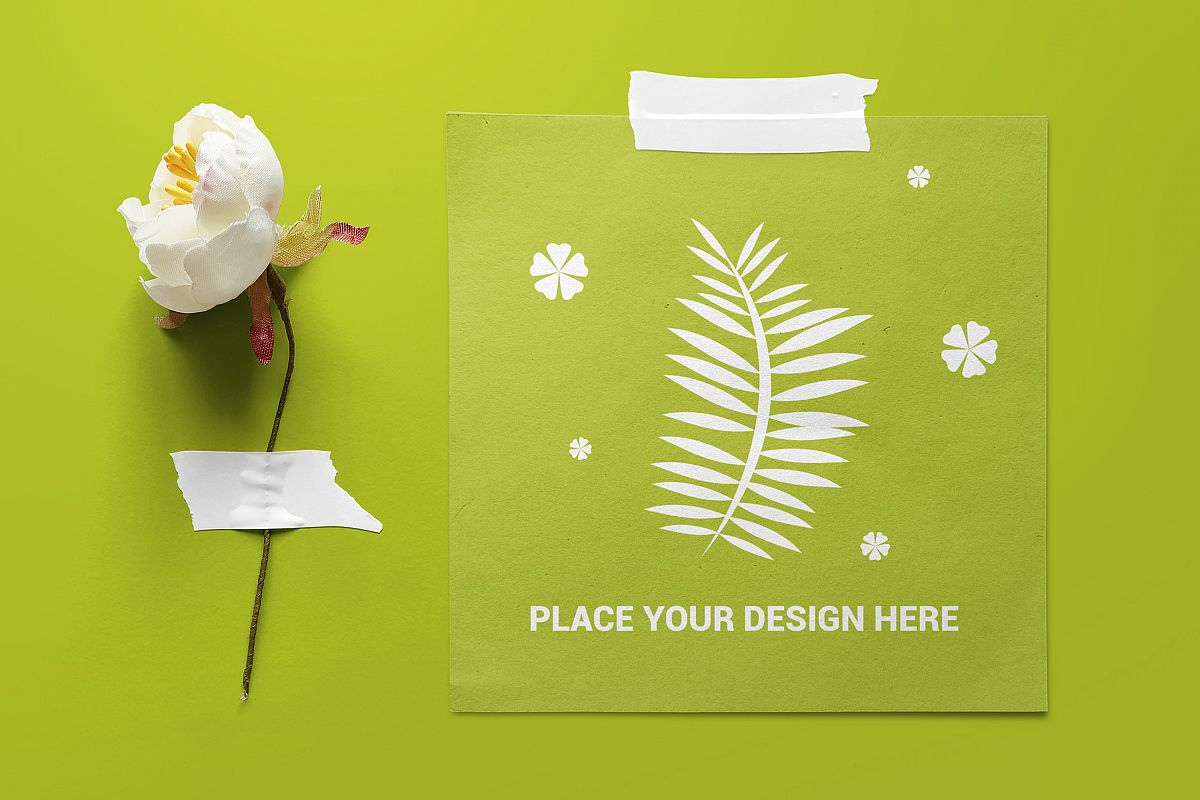 Taped Paper Mockup example image 1