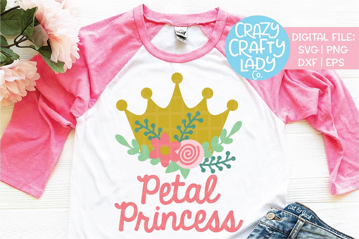 Petal Princess Wedding SVG DXF EPS PNG Cut File example image 1