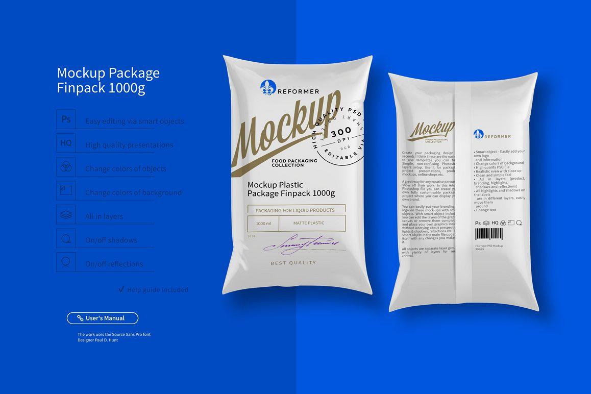 Mockup Package Finn Pack 1000g example image 1