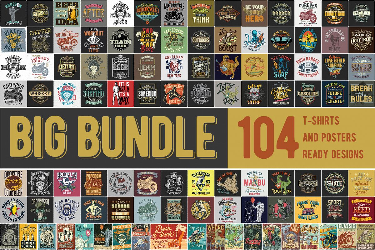 T-shirts and posters Big Bundle 2.0 Free Download