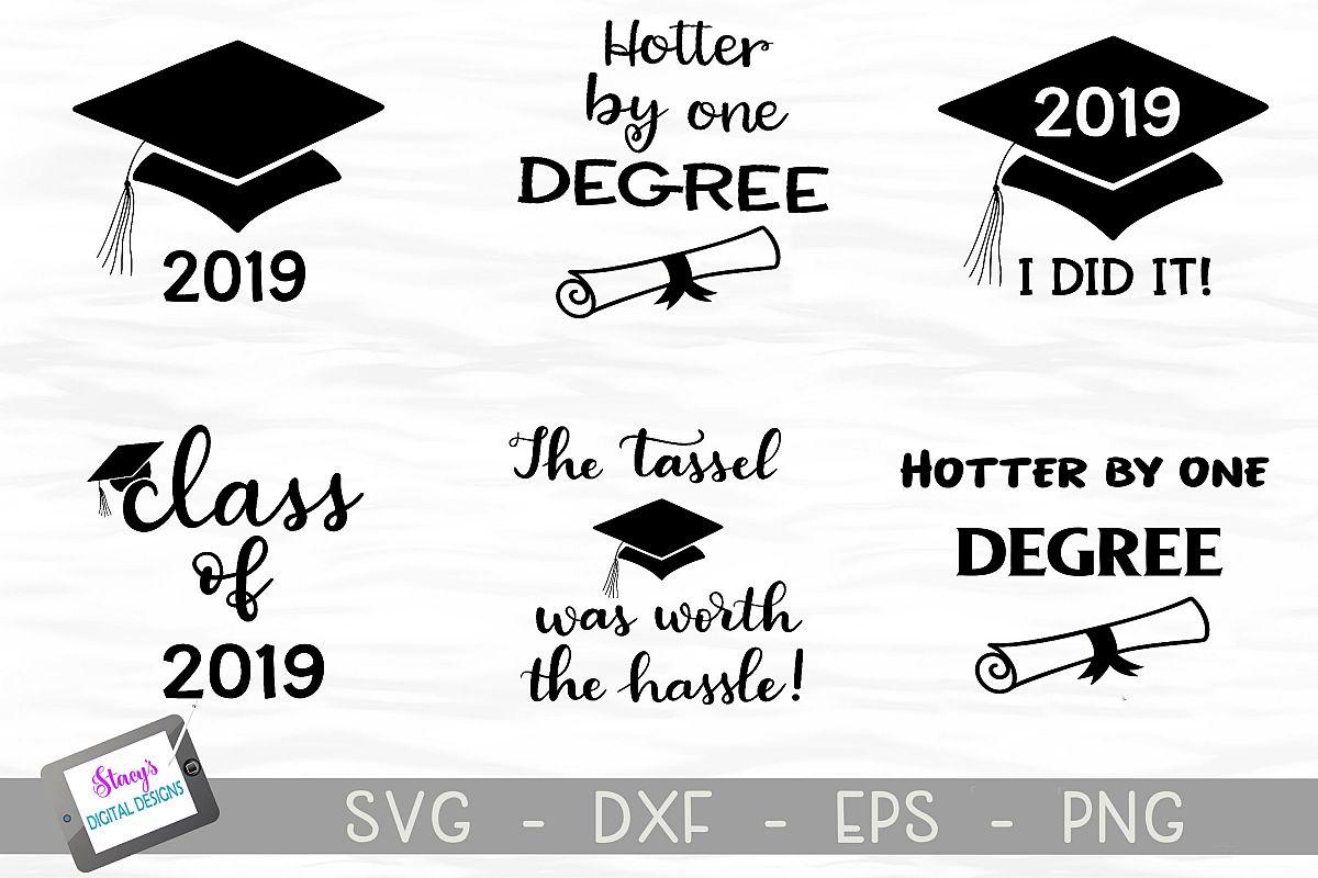 Graduation SVG Bundle - Includes 6 Class of 2019 SVG files example image 1