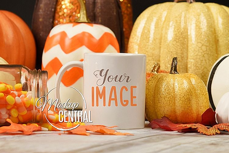 Halloween Coffee Mug Class Cup Mockup JPG example image 1