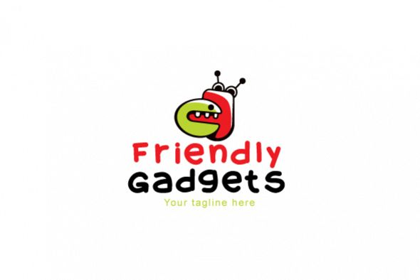 Friendly Gadgets - Cute Robotic Gadgets Stock Logo Template example image 1