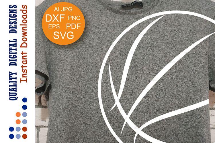 Basketball ball svg Clipsrt Sports shirt example image 1