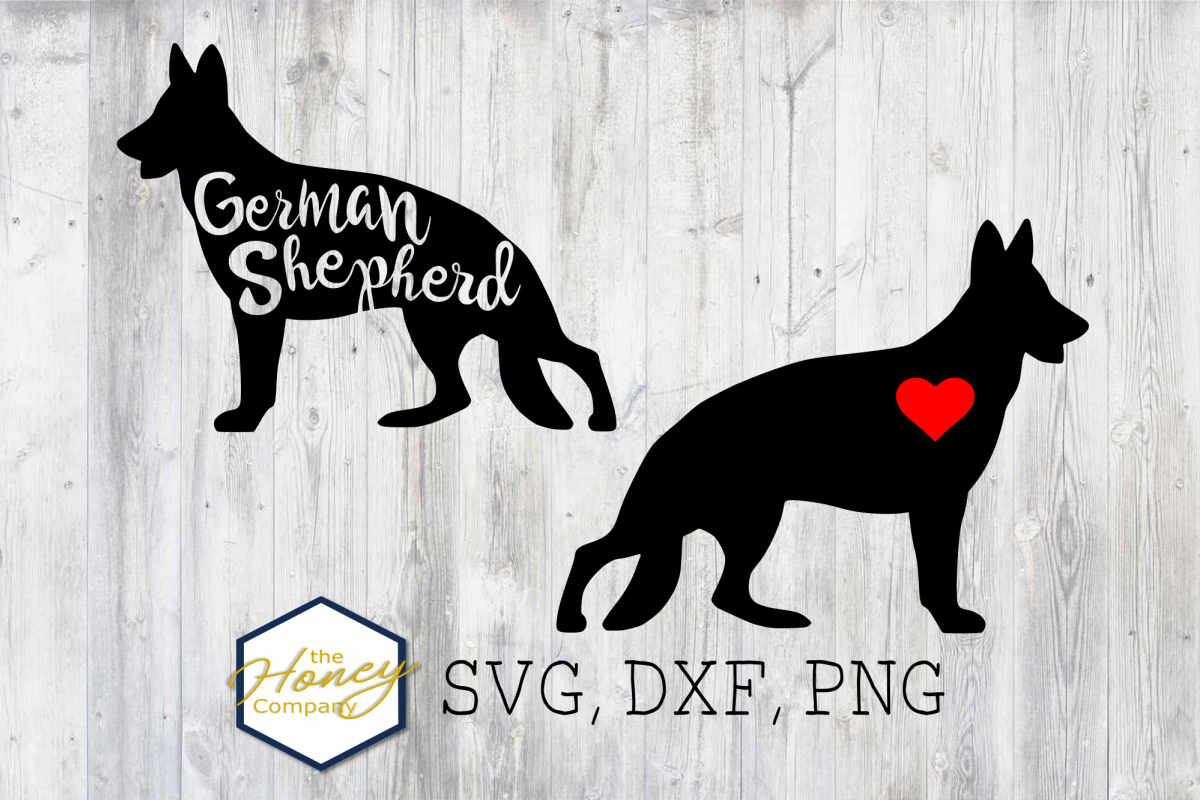German Shepherd SVG PNG DXF Dog Breed Lover Cut File Clipart example image 1