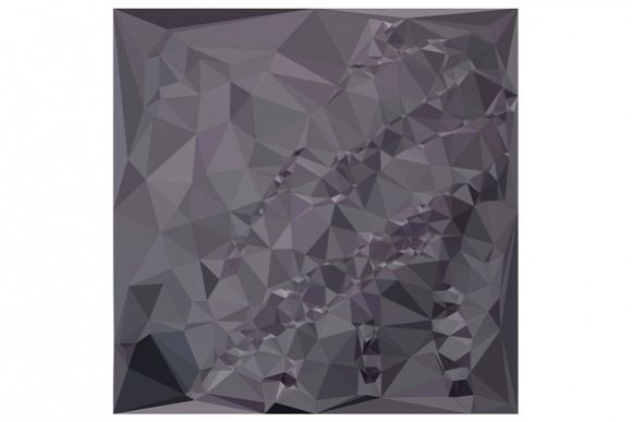 Dark Liver Lavender Abstract Low Polygon Background example image 1