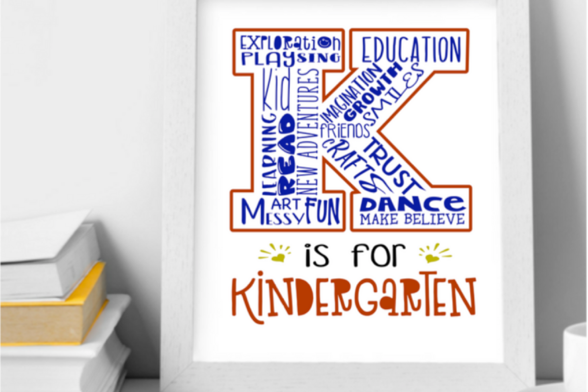 K Is For Kindergarten Wall Art Print Printable Classroom Decor Teacher