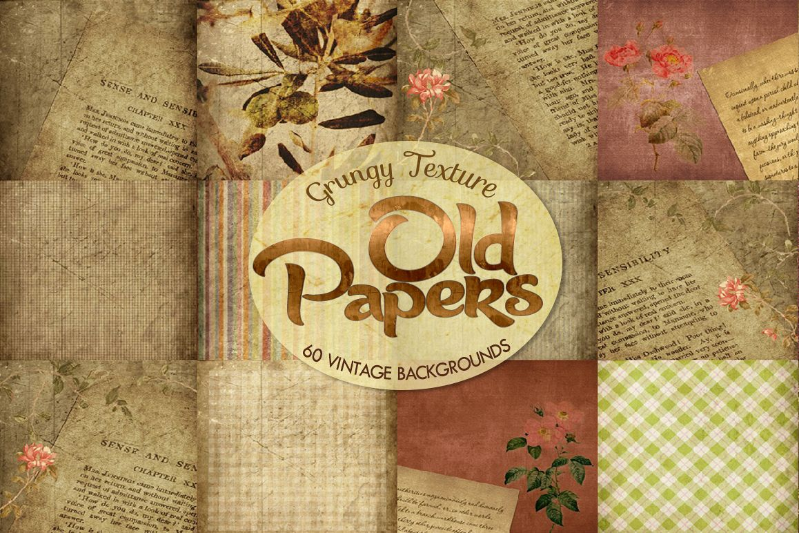 60 Romantic Vintage Background Papers example image 1