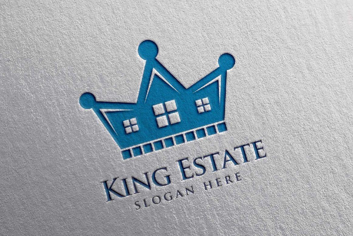 Real Estate Logo, King Estate Logo example image 1