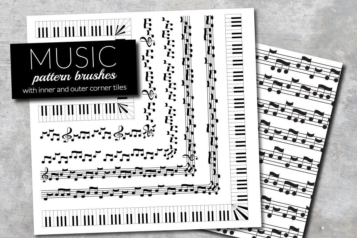 Music brushes for Adobe Illustrator example image 1