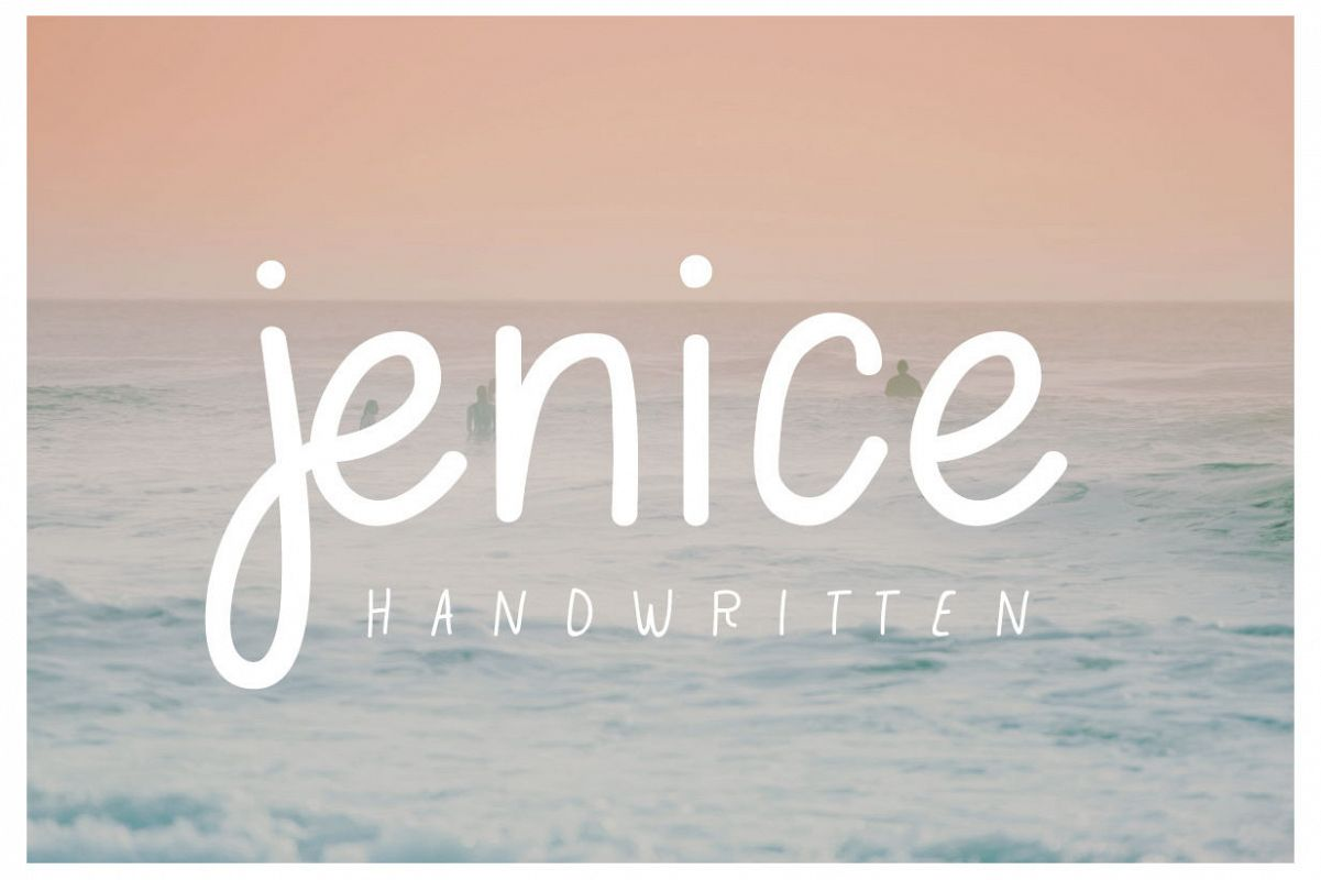 jenice | casual handwritten font example image 1