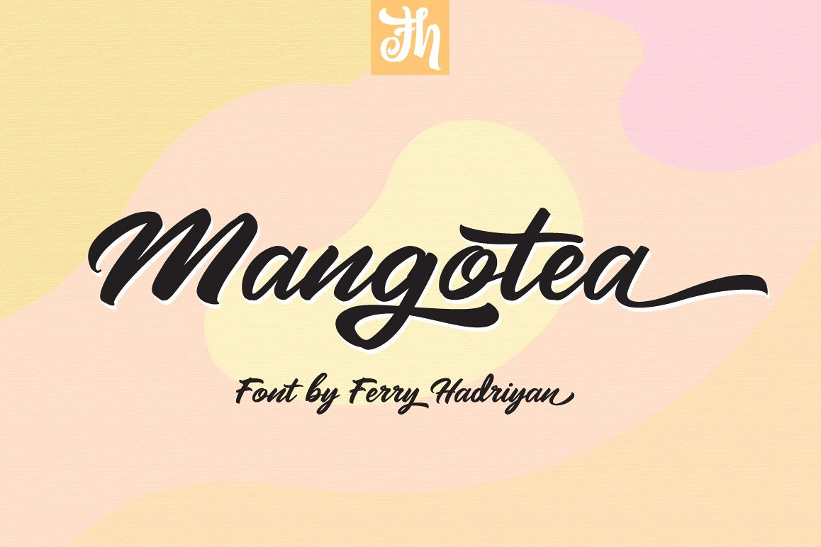 Mangotea - Script Font example image 1