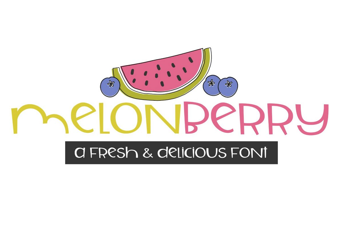 Melonberry Handwritten Font example image 1
