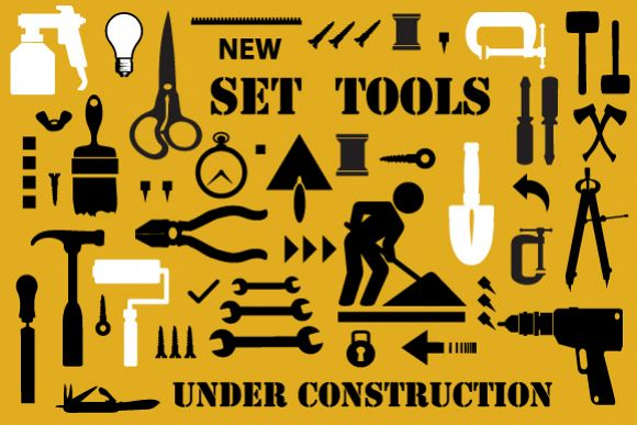 Set of building and electric tools example image 1