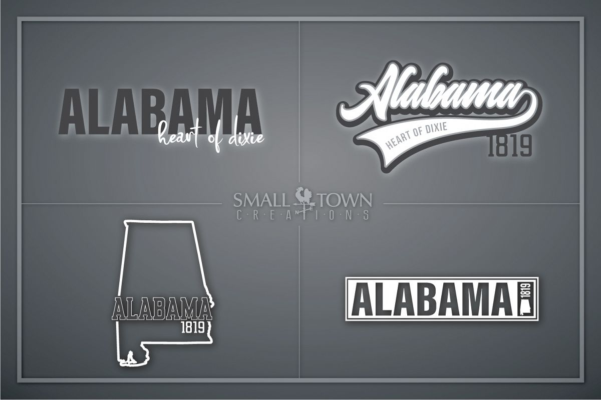 Alabama, Bundle, Heart of Dixie, Logo, PRINT, CUT & DESIGN example image 1