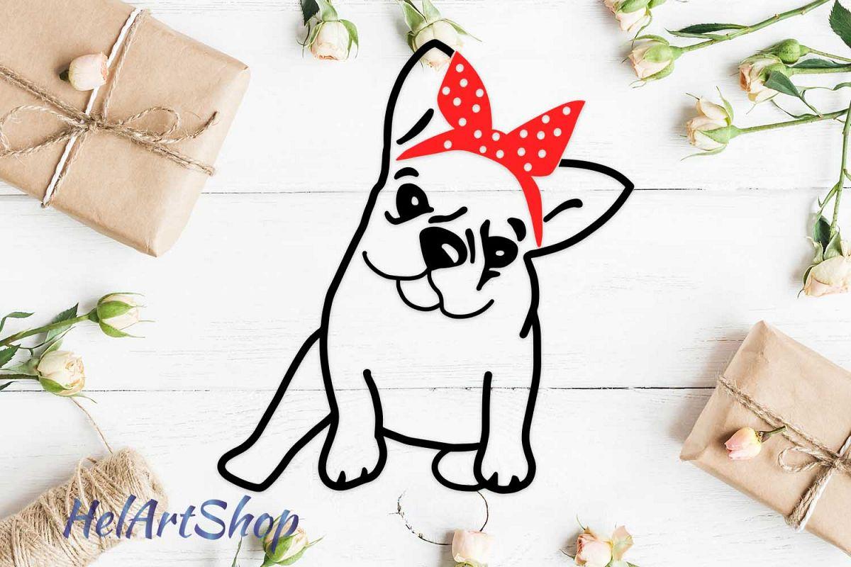 French bulldog with bandana example image 1