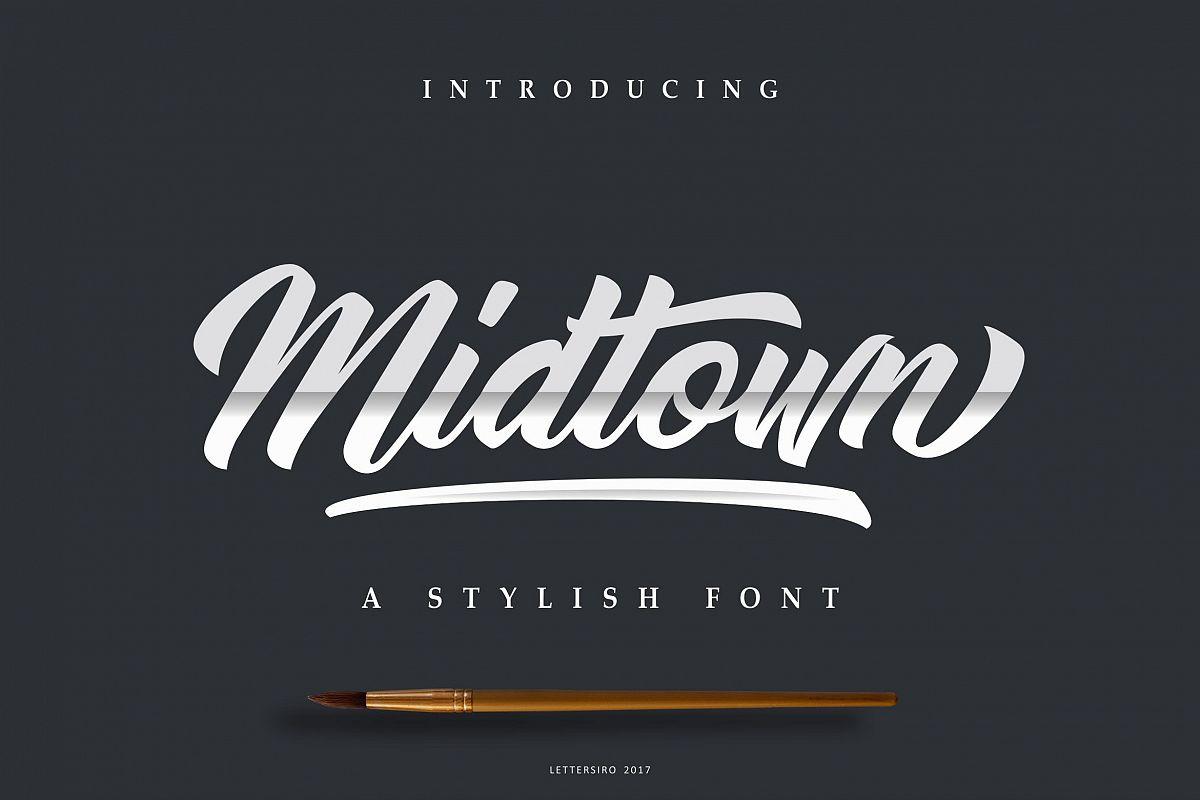 Midtown Stylish Font example image 1