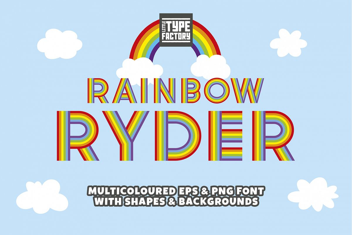 Rainbow Ryder EPS Font example image 1