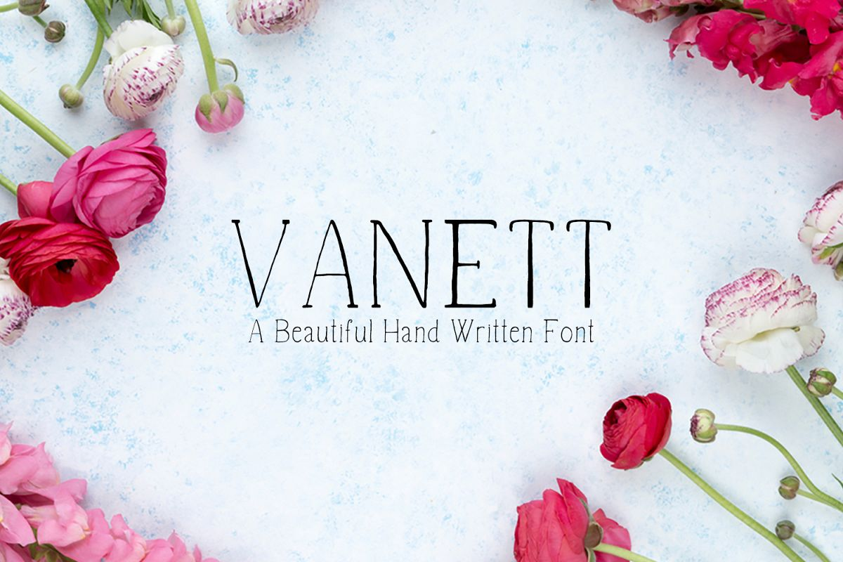 Vanett A Beautiful Handwritten Font example image 1