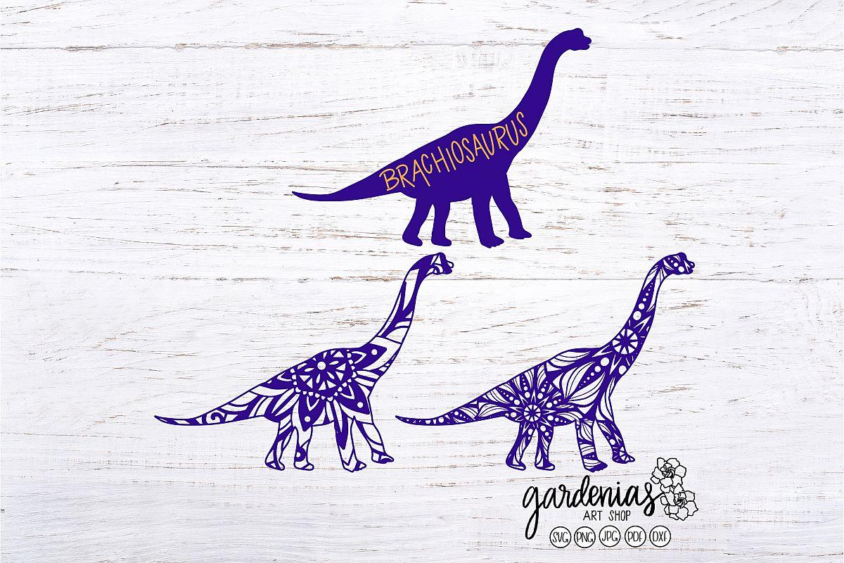 Brachiosaurus SVG | Dinosaur Mandala | Mini Bundle | ClipArt example image 1