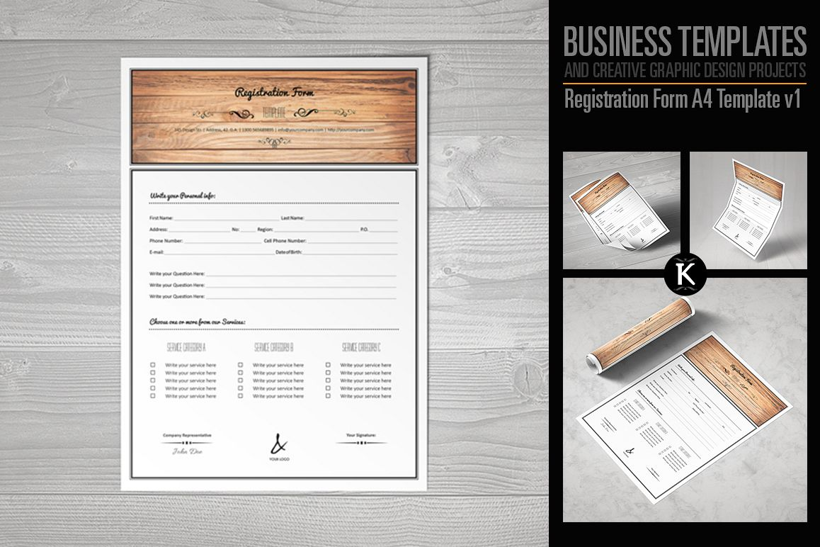 Registration Form Template v1 example image 1