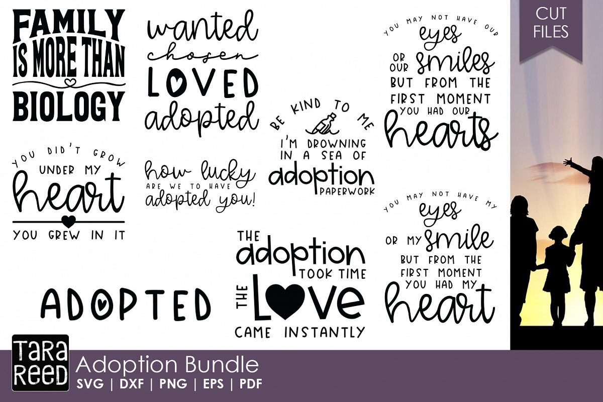Adoption - Family SVG & Cut Files for Crafters example image 1