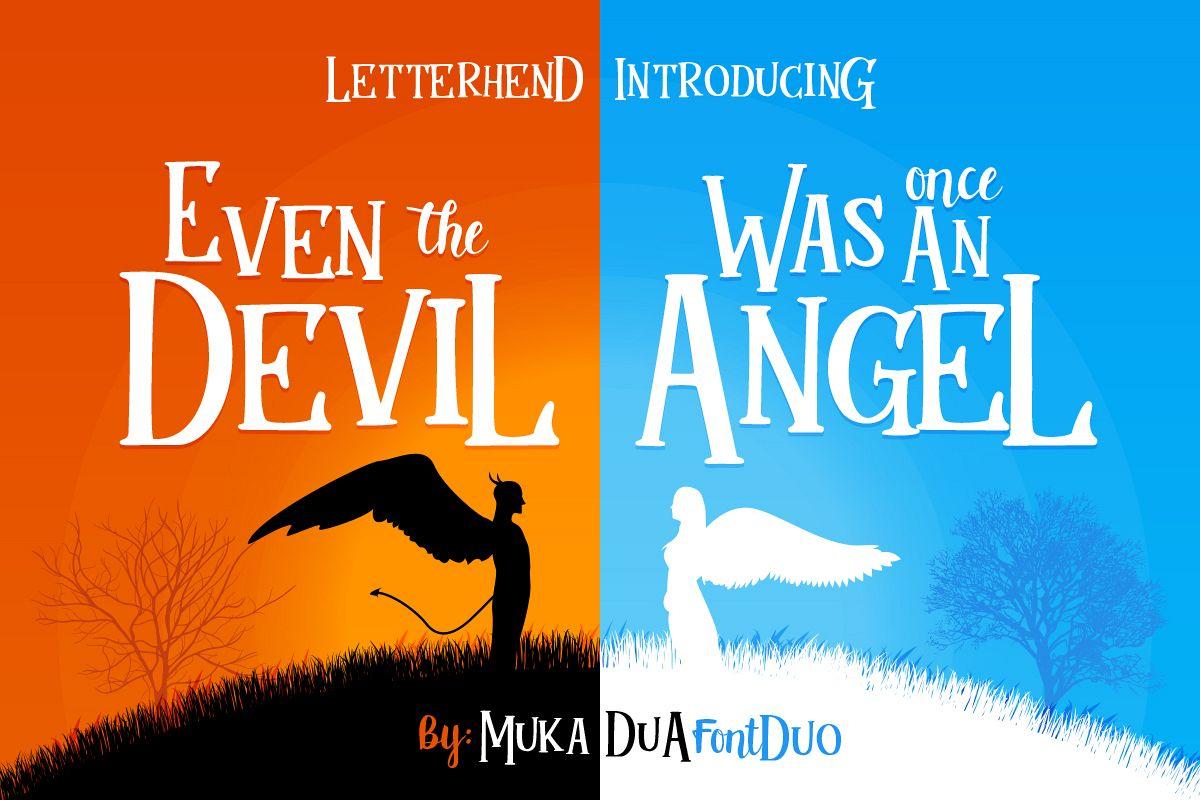 Mukadua font duo example image 1