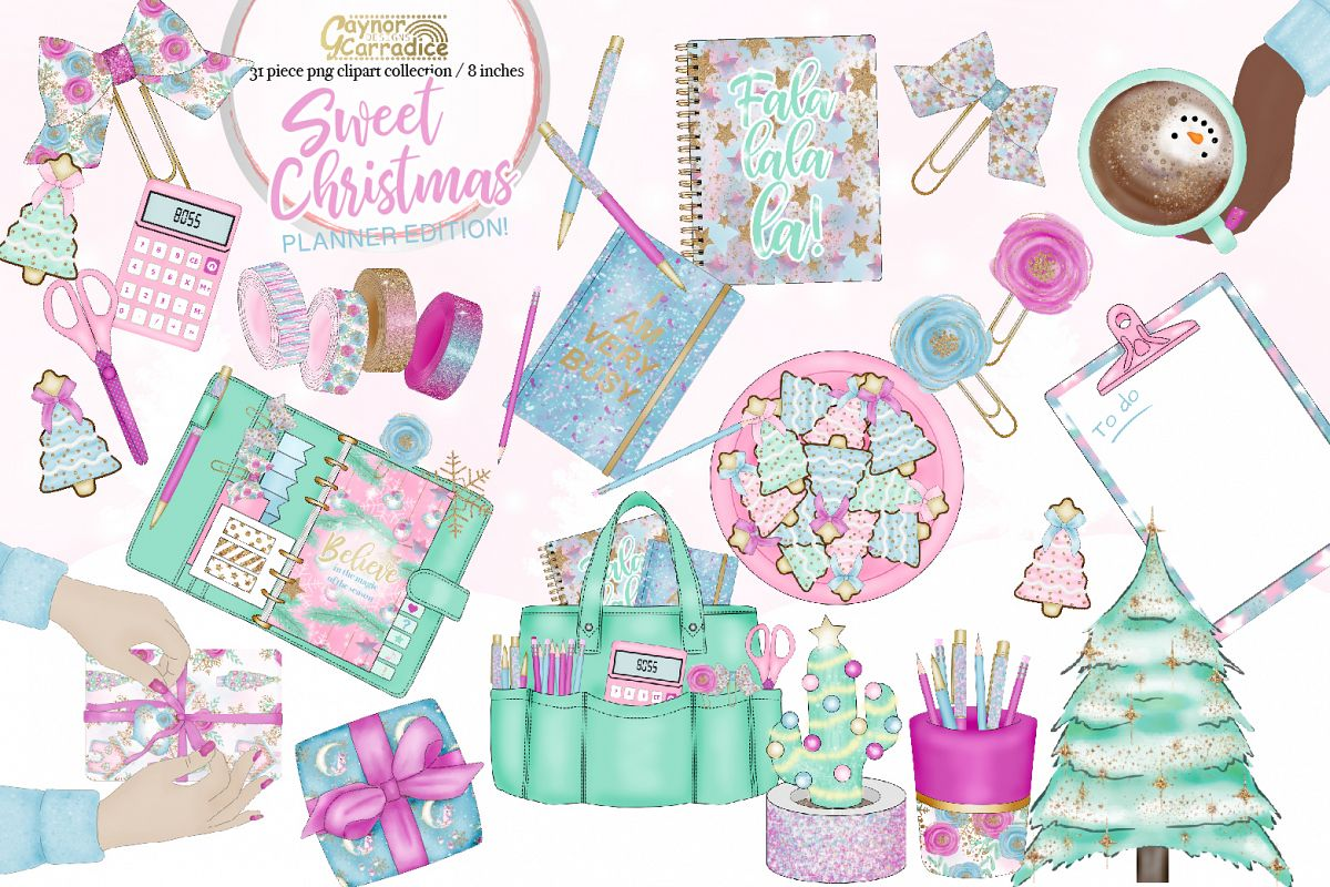 Sweet Christmas - Christmas planner Clipart example image 1