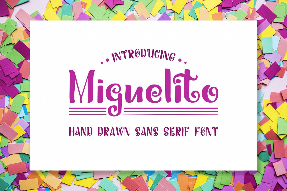 Miguelito - Hand Drawn Font example image 1