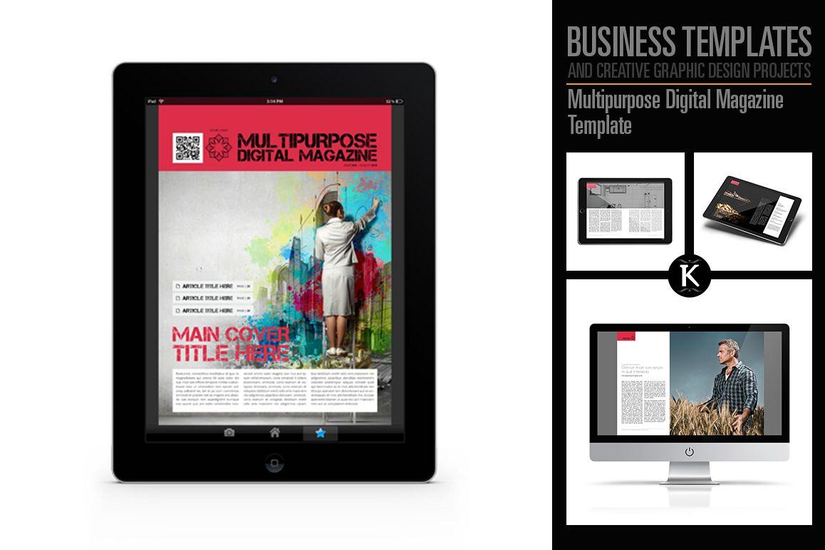 Multipurpose Digital Magazine Template example image 1